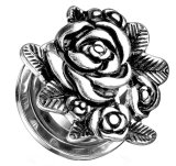 Stahl - Tunnel - Rose 12 mm