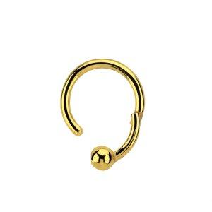 Gold Steel - BCR Klemmring - Klick Verschluss