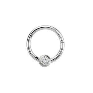 Steel - BCR ball closure ring - hinged - crystal