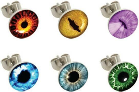 Stahl - Ohrstecker - 12er Set - Auge