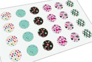 Stahl - Ohrstecker - 12er Set - Polka Dots