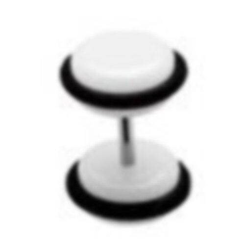 Acryl - Fake Plug - Weiß - mit Gummi