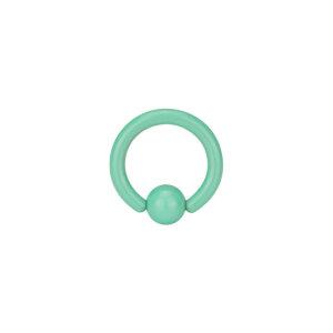 Steel - Mini BCR ball closure ring - pastel green - 1,2...
