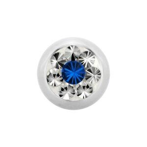 Steel - Screw ball - Epoxy - crystal - SWAROVSKI -...