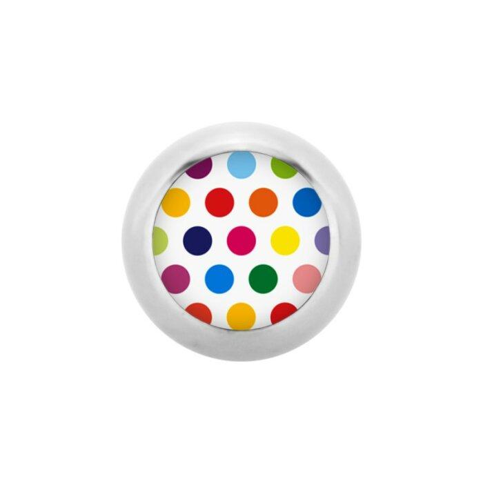 Stahl - Schraubkugel - Polka Dots - bunt - Supernova Concept