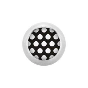 Stahl - Schraubkugel - Polka Dots - schwarz-weiß -...