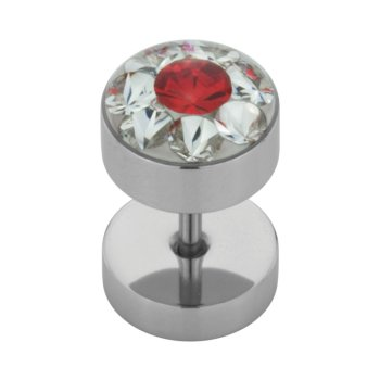 Stahl - Fake Plug  - Epoxy - SWAROVSKI - Supernova Concept - Light Siam (LS)