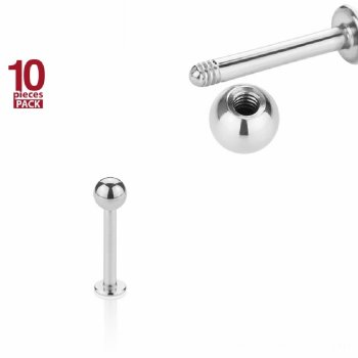 Stahl - Labret - 10er Pack