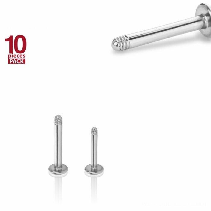 Stahl - Labret - ohne Kugel - 10er Pack