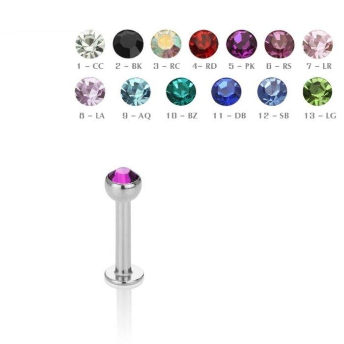 Stahl - Labret - Kristall