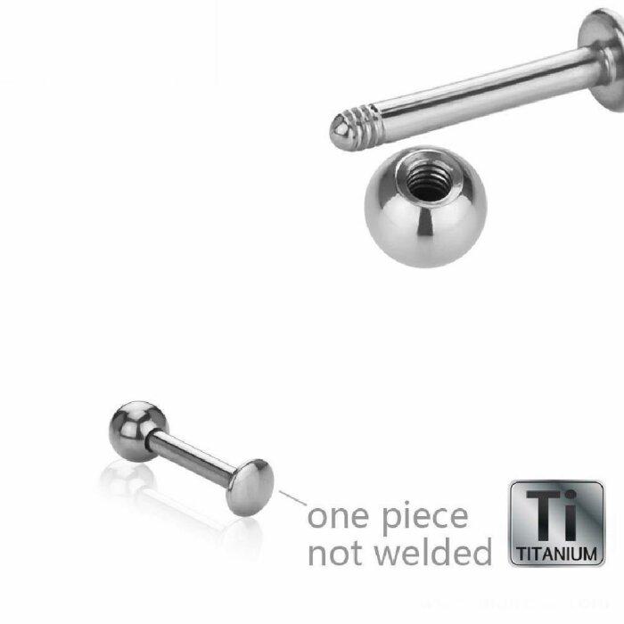 Titan - Labret - abgerundete Bodenplatte