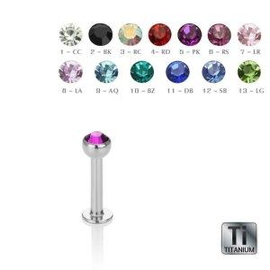 Titanium - Labret - crystal