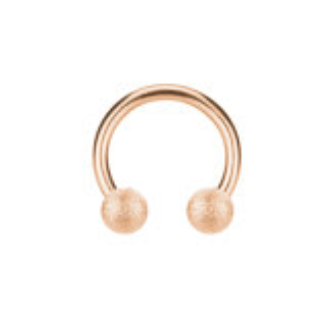 Rosegold Steel Steel - CBR Circular Barbell (horseshoe) -...