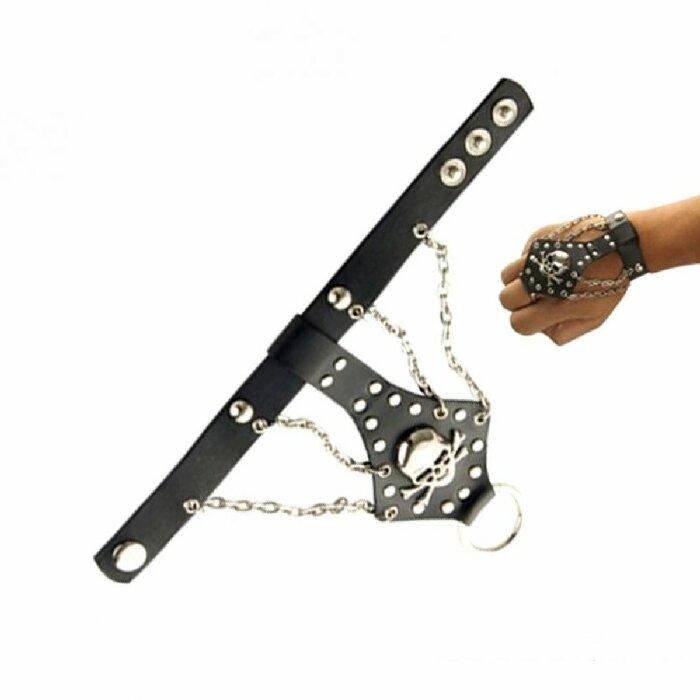 Armband - Lederoptik - Totenkopf