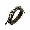Armband - Lederoptik - Schwarz-Weiss