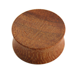 Holz - Plug - Hellbraun - Granadillo Wood
