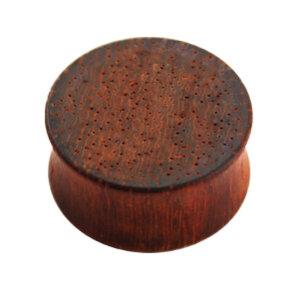 Holz - Plug - Rotbraun - Padouk Wood