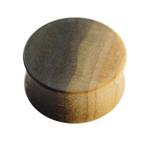 Holz - Plug - Braun gemasert - Tulip Wood