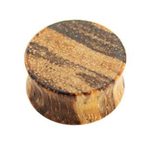 Holz - Plug - Hellbraun gemasert - Zebrano