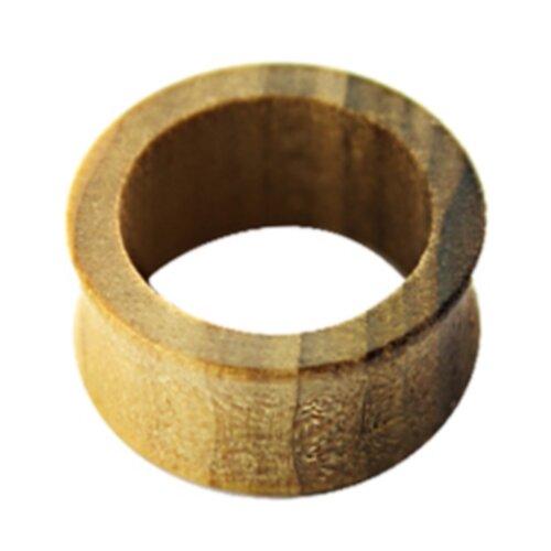 Holz - Flesh Tunnel - Braun gemasert - Tulip Wood