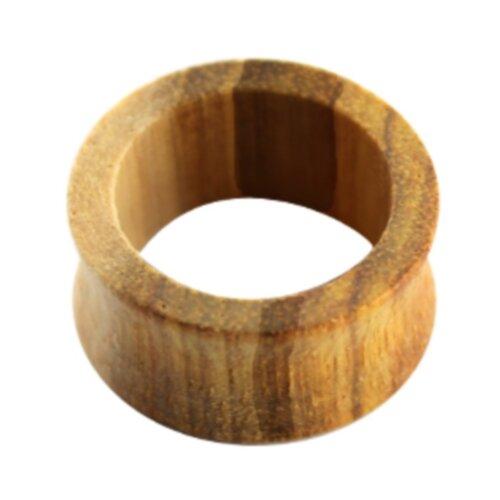 Holz - Flesh Tunnel - Hellgelb - Canary Wood