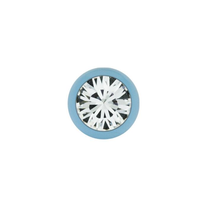 Stahl - Schraubkugel - Pastell blau - Kristall - SWAROVSKI - Supernova Concept