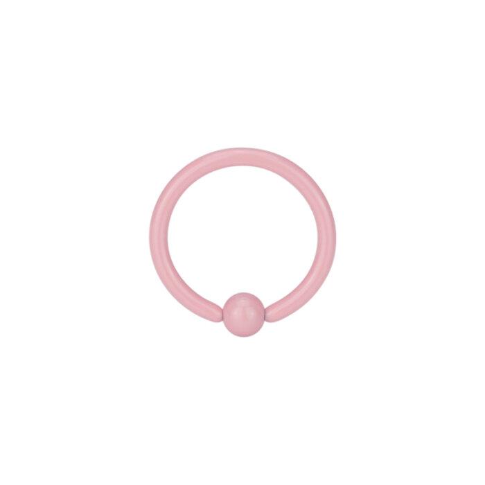Stahl - Mini BCR Klemmring - pink - Supernova Concept - 1,2 mm