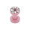 Stahl - Flesh Tunnel - pink - Kristall - SWAROVSKI - Supernova Concept