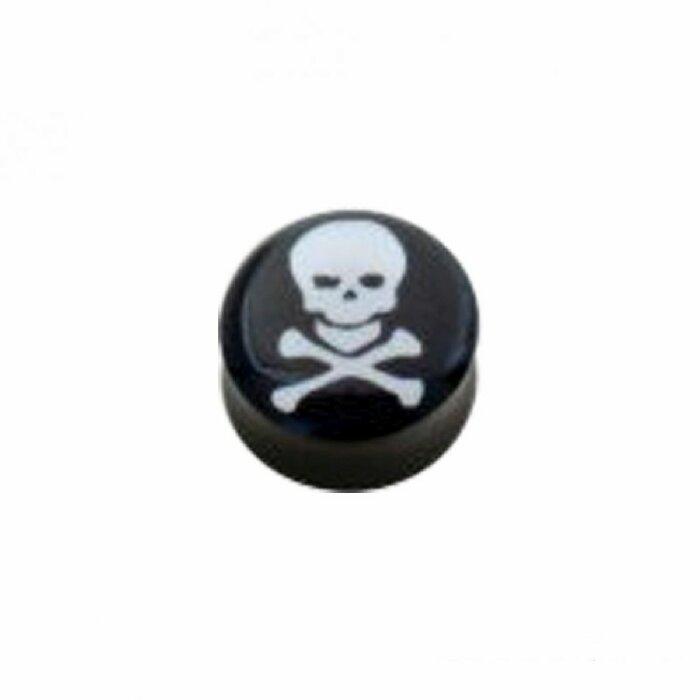 Acryl - Plug - konkav - Totenkopf #5