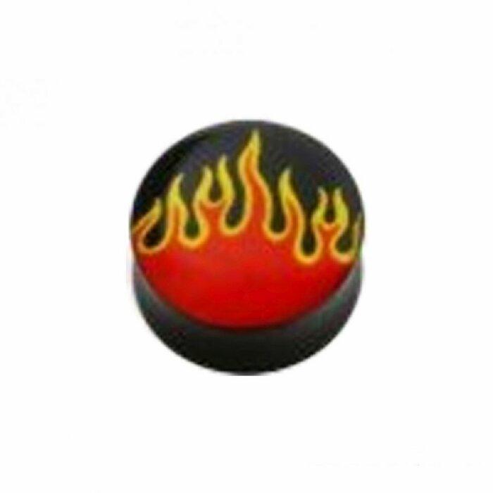 Acryl - Plug - konkav - Flamme
