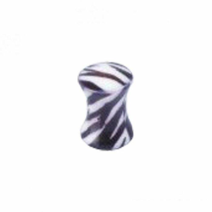 Acryl - Plug - Zebra - Wirbel