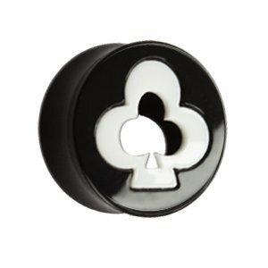 Kunststoff - Plug - schwarz - Weißes Blatt