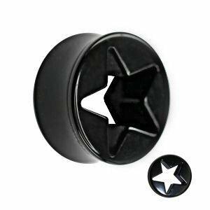 Kunststoff - Plug - schwarz - Stern