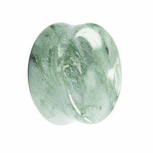 Glas - Plug - weiß - Marmor
