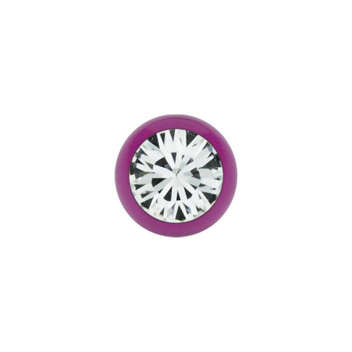 Stahl - Schraubkugel - Violett - Kristall - SWAROVSKI - Supernova Concept