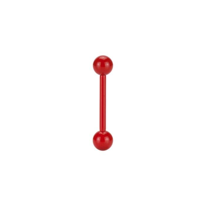 Stahl - Mini Barbell - Rot - Supernova Concept