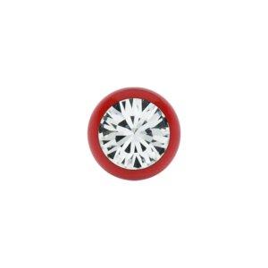 Stahl - Schraubkugel - Rot - Kristall - SWAROVSKI -...