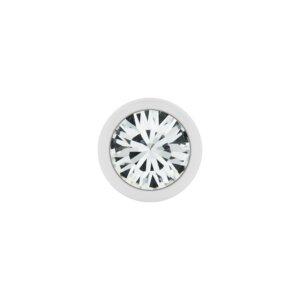 Stahl - Schraubkugel - weiß - Kristall - SWAROVSKI...