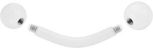 Stahl - Mini-Banane - weiß - Supernova Concept - 1,2 mm