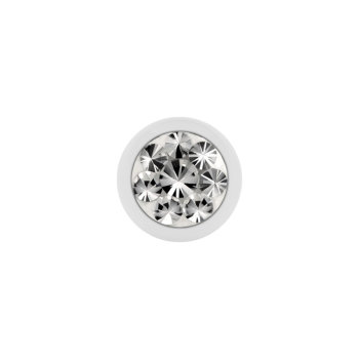Stahl - Schraubkugel - weiß - Epoxykristall - Supernova Concept - Kristallklar (CC)