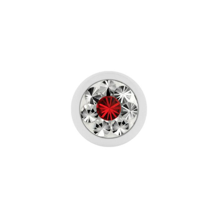 Stahl - Schraubkugel - weiß - Epoxykristall - Supernova Concept - Light Siam (LS)