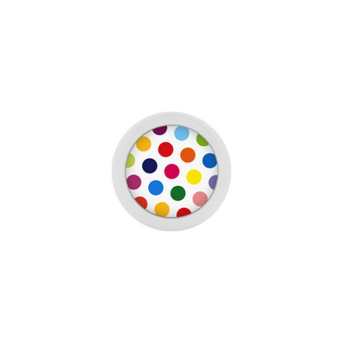 Stahl - Schraubkugel - Polka Dots - bunt - Supernova Concept Pure White