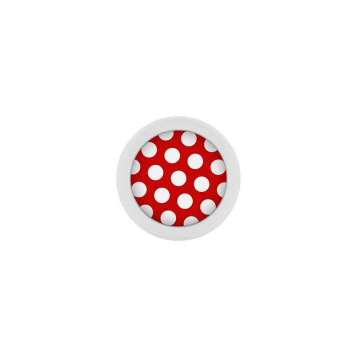 Stahl - Schraubkugel - Polka Dots - rot-weiß - Supernova Concept - Pure White