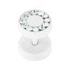 Stahl - Fake Plug - Kristall - SWAROVSKI - Supernova Concept - Kristallklar (CC)