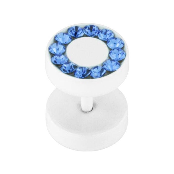 Stahl - Fake Plug - Kristall - SWAROVSKI - Supernova Concept - Sapphire (SP)
