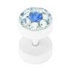 Stahl - Fake Plug - Epoxykristall - SWAROVSKI - Supernova Concept - Sapphire (SP)