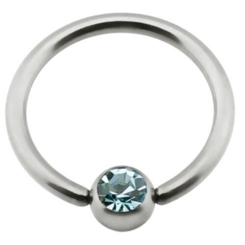 Titan - Nipple Ring - Aquamarine (AQ)