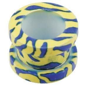 Stahl - Transfer Tunnel - Supernova Concept - Zebra - blau-gelb