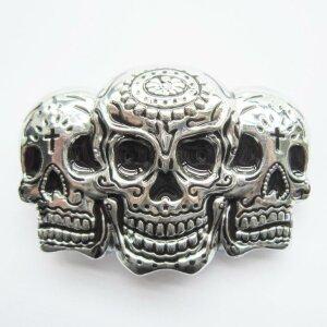 Gürtelschnalle - Triple Skull