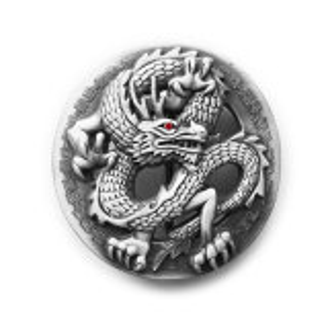 Gürtelschnalle - klassischer Drache - Dragon Buckle